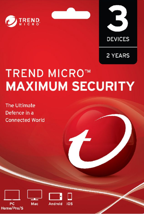 Trend Micro Maximum Security 3 PC 2 Years Key Global